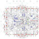 План вентиляции типового этажа